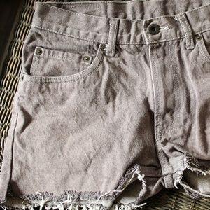 Grey Levi Shorts